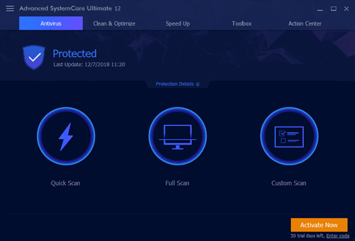 iObit Advanced SystemCare Ultimate 12 Full Main Windows