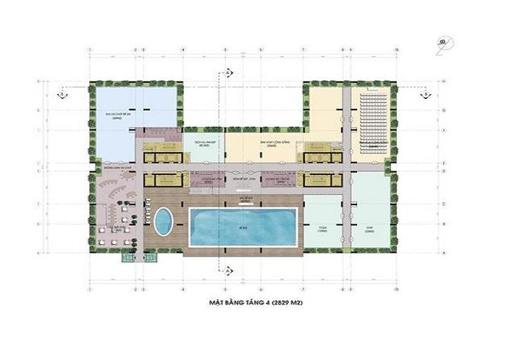 Mặt bằng chung cư Riverside Garden 349 Vũ Tông Phan