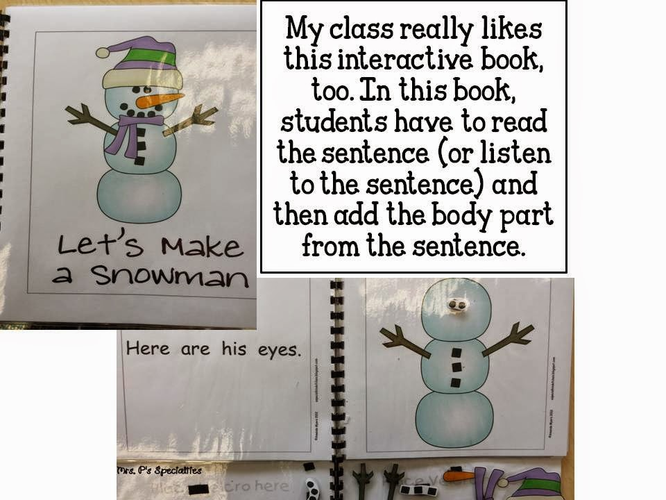 photo of Let's make a snowman interactive book