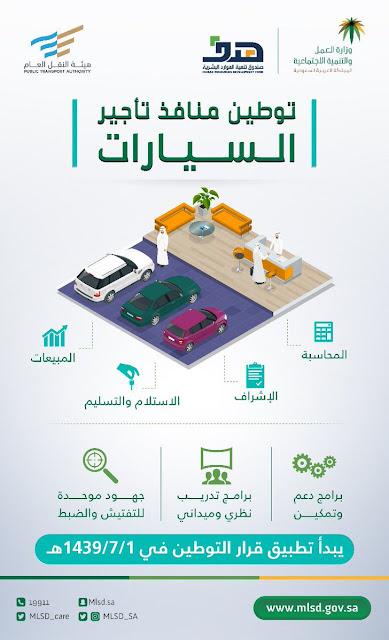 وزارة العمل السعودية : توطين مهن جديدة من يوم غداً الاحد