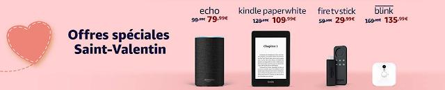 BON PLAN : Amazon Echo, Kindle, Fire TV Stick jusqu'à -50% pour la Saint Valentin