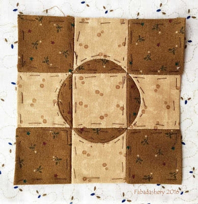 Dear Jane Quilt - Block G13 Molly's Muffins