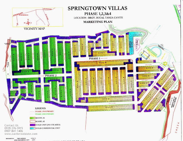 Springtown Villas site map