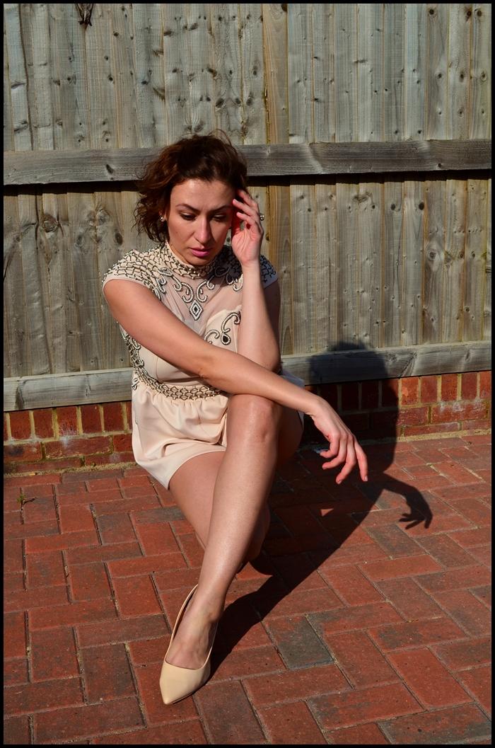 Adriana Style Blog, blog modowy Puławy, Glamour Outfit, Glamour Style, Kombinezon, moda, Fashion, Playsuit, Styl Glamour, Szpilki Nude, Stylizacja Glamour, ASOS Playsuit
