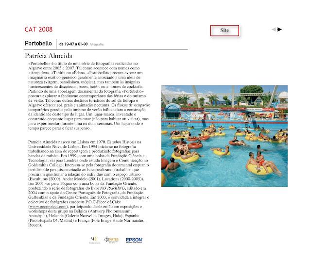 Casa das Artes . site. 2008 . patricia almeida
