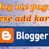 blog me pages kese add kare