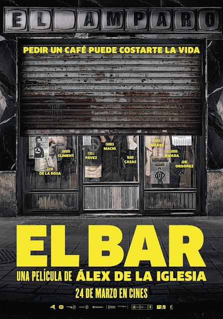 Teaser póster de 'El Bar', de Álex de la Iglesia, que cambia su fecha de estreno