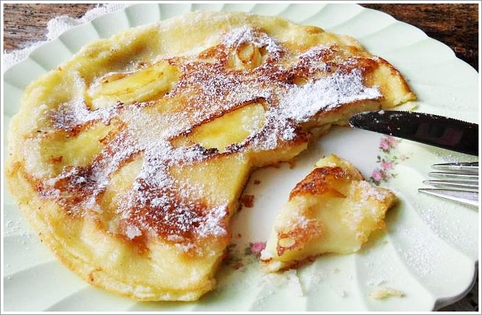 glutenfreier apfelpfannkuchen