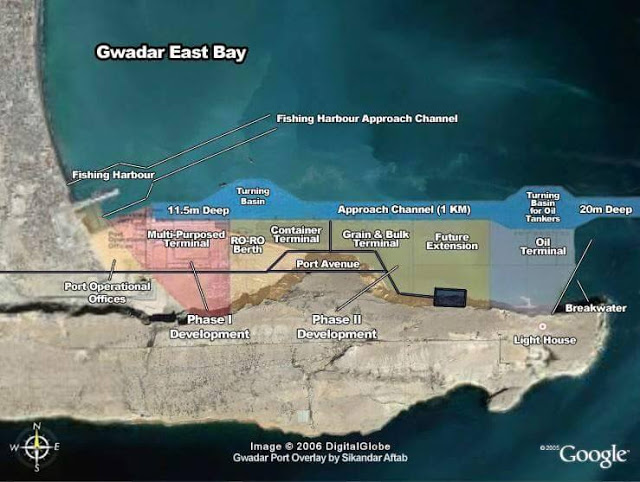 Image Attribute: Gwadar East Bay Map Overlay / (c) DigitalGlobe / Google