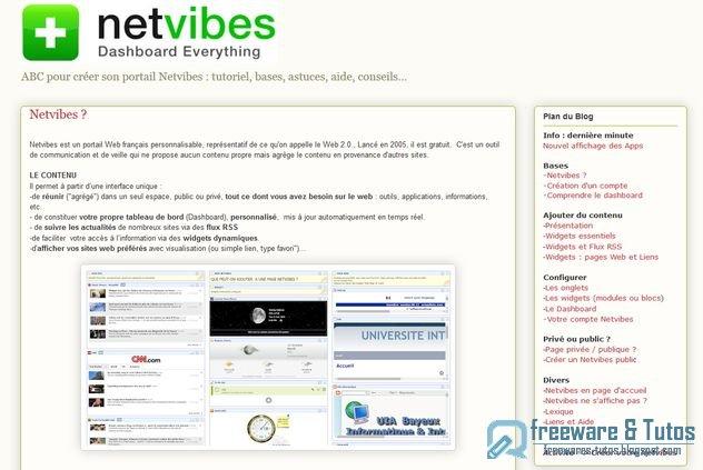 Le site du jour : ABC Netvibes pour tout savoir sur Netvibes
