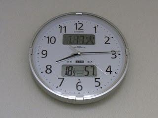 リズム(RHYTHM)CITIZEN ( シチズン ) 電波 掛け時計 インフォームナビF 温湿度計 警告音付き シルバー 4FY618-019