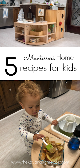 5 child friendly recipes that we make in our Montessori home