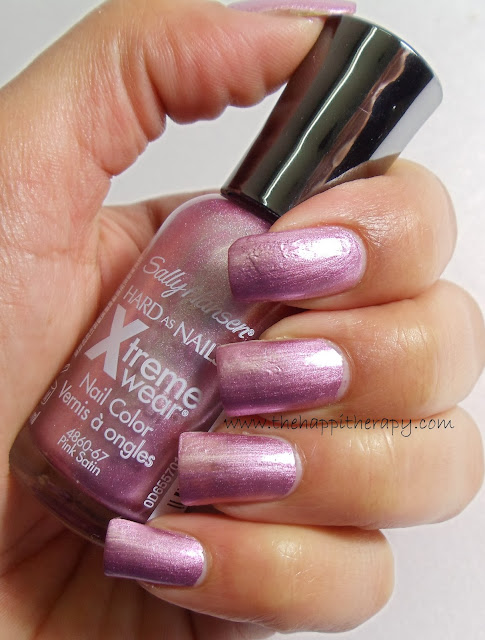 Sally Hansen Xtreme Wear 'Pink Satin' review, swatches & 'Mushy' NOTD