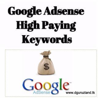 high paying google adsense keywords 2017