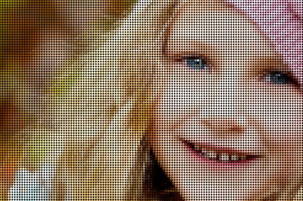 Foto Mosaic Polka Dot Di Photoshop