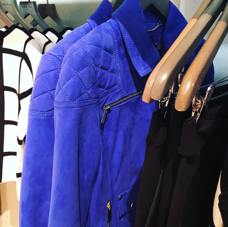 Karen Millen Blue Suede Jacket