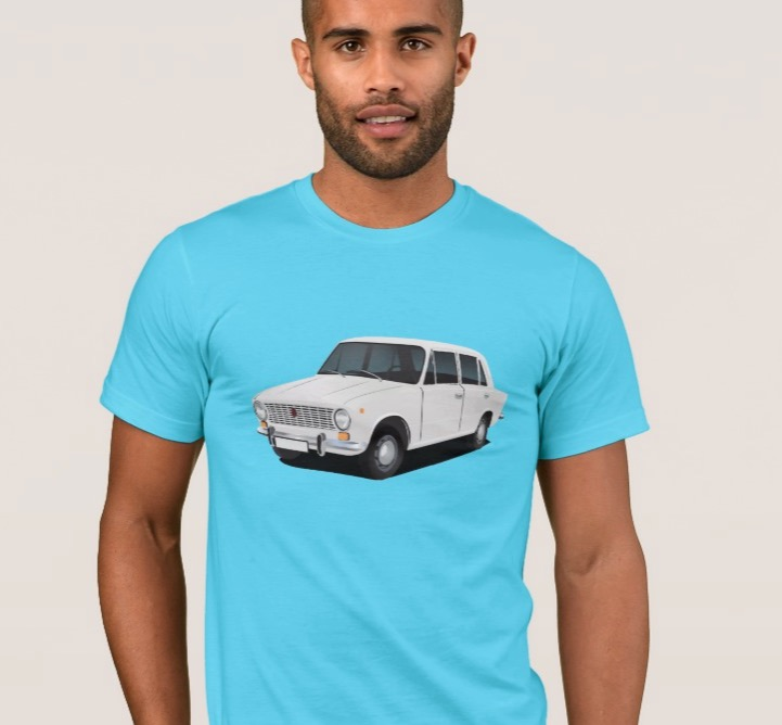 vaz-2101 Lada 1200 white t-shirts illustration