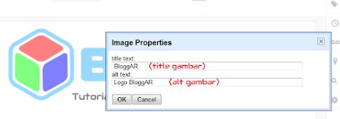 Cara Menambahkan Alt, Deskripsi dan Title pada Gambar Blog