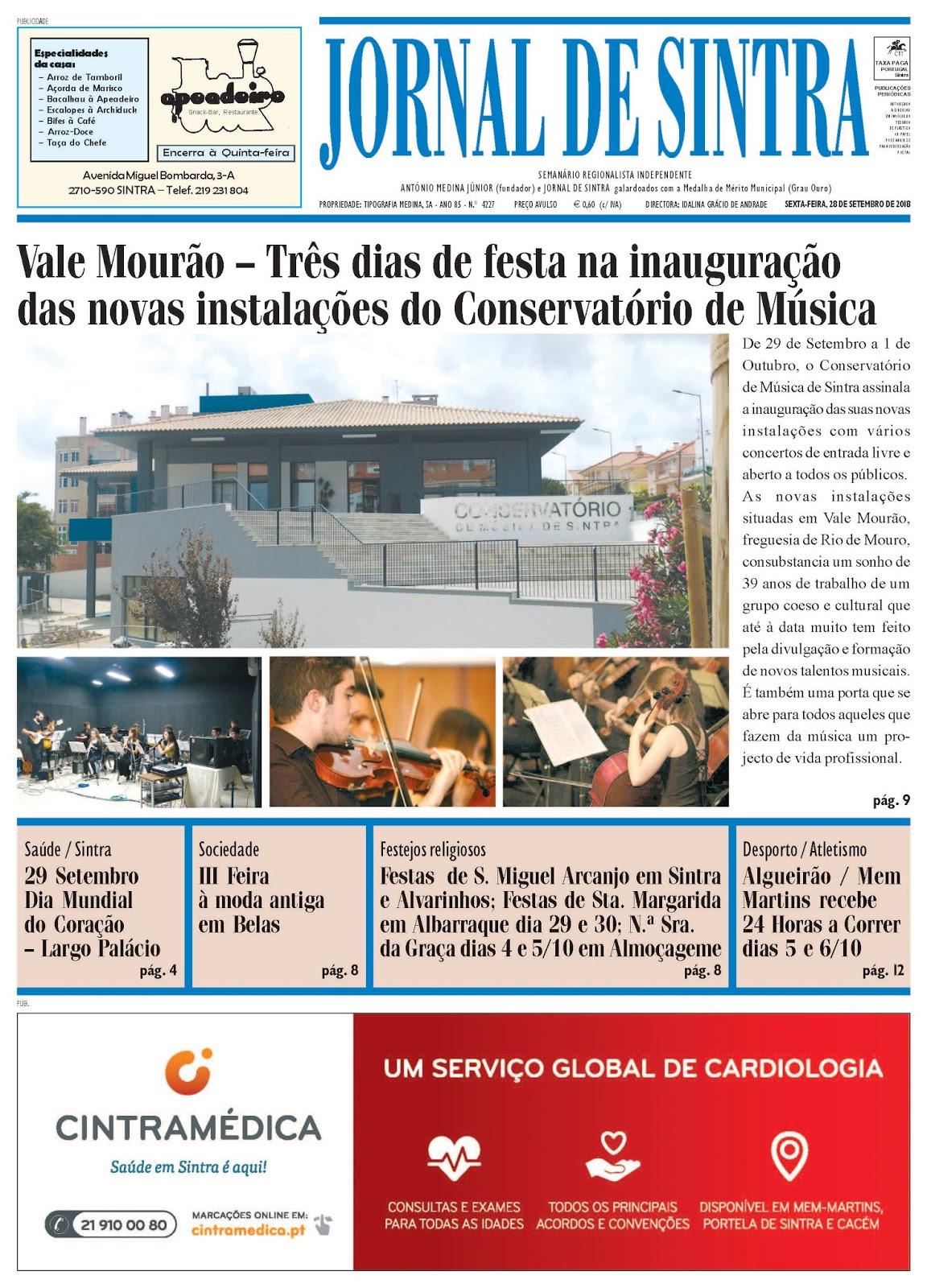 Capa da edição de 28-09-2018