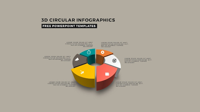 3D Circular Infographic Free PowerPoint Template Slide 7