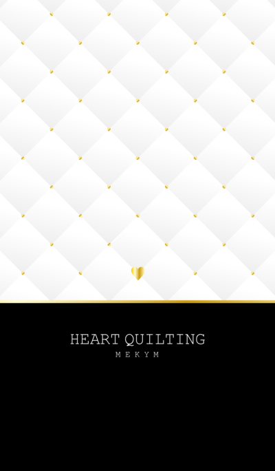 HEART QUILTING -WHITE-