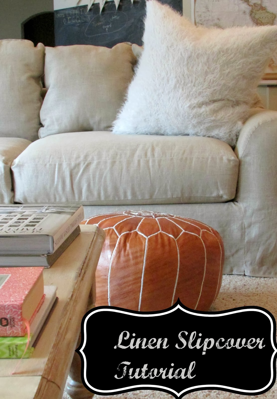 SimplyLinen: Linen Slipcovered Couch