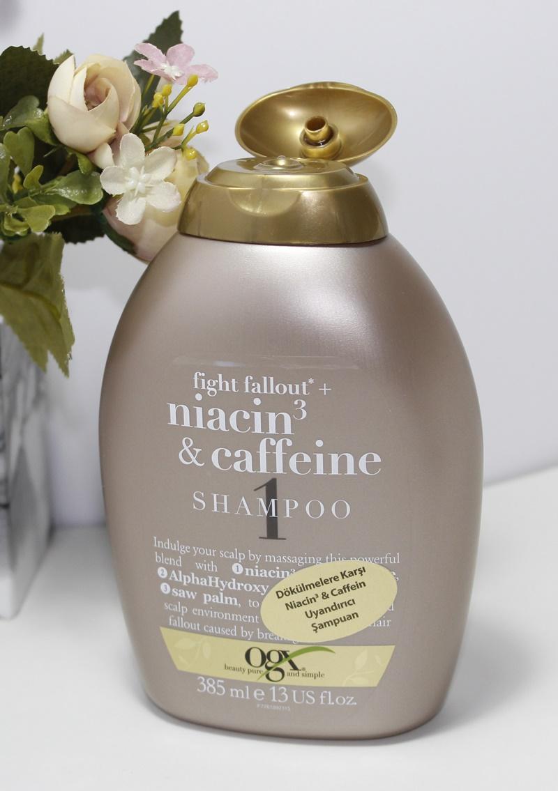 Organix Niacin 3 and Caffeine Shampoo - Dökülmelere Karşı Uyandırıcı Şampuan