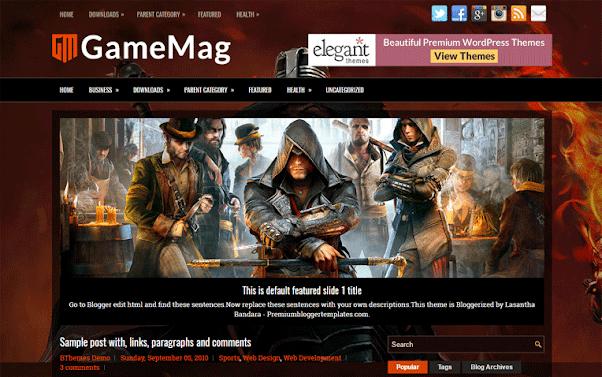 GameMag Free Blogger Template
