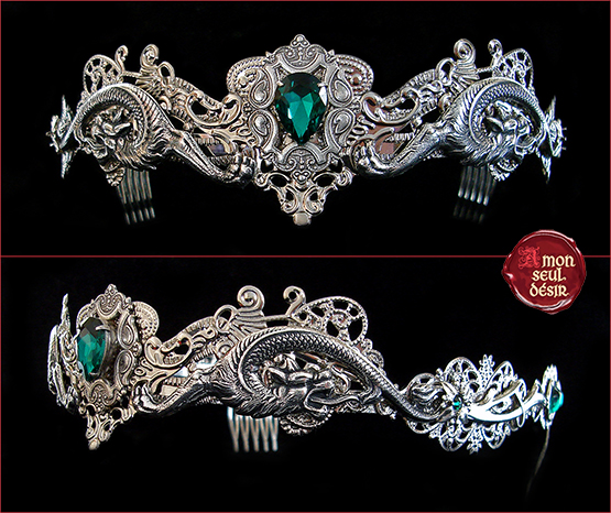 couronne dragon circlet crown medieval renaissance fantasy game of thrones queen jewelry denerys targaryen eragon
