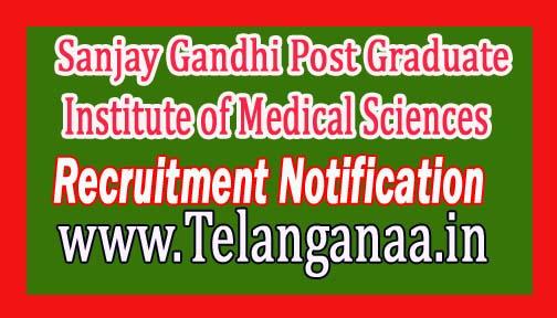Sanjay Gandhi Post Graduate Institute of Medical Sciences SGPGI Recruitment Notification 2016