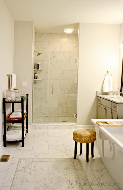 Large walk in shower in master bath
