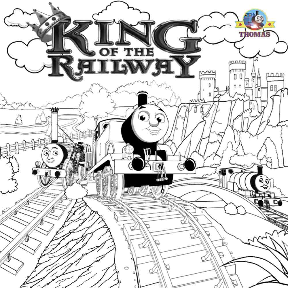 LETS COLORING BOOK: Thomas Tank The Train Coloring Steam Engine ...