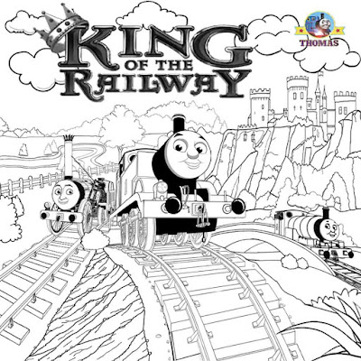 Royal king of the railway pictures Thomas tank train coloring steam engine representations to color