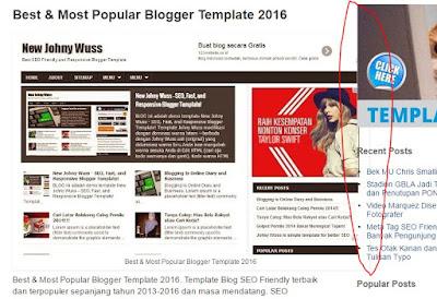 Ukuran Lebar Gambar di Postingan Blog