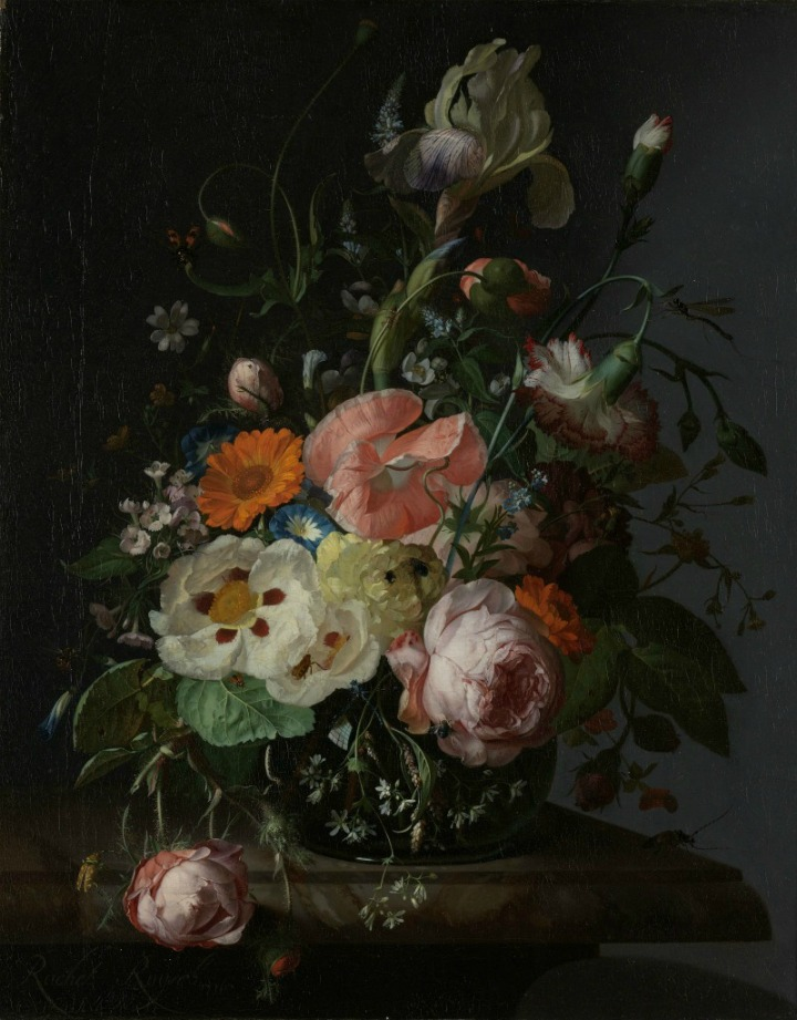 Still Life with Flowers on a Marble Tabletop, Rachel Ruysch, 1716  - Rijksmuseum Amsterdam