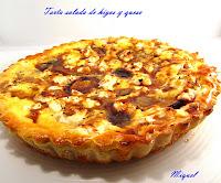 Tarta salada de higos y queso de cabra con reducción de vinagre de Módena