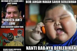 Foto lucu dan Gambar lucu DP BBM dan Meme Terbaru Jomblo Buka puasa comic versi ramadhan