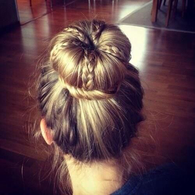 Oversized Dutch-Braid Bun
