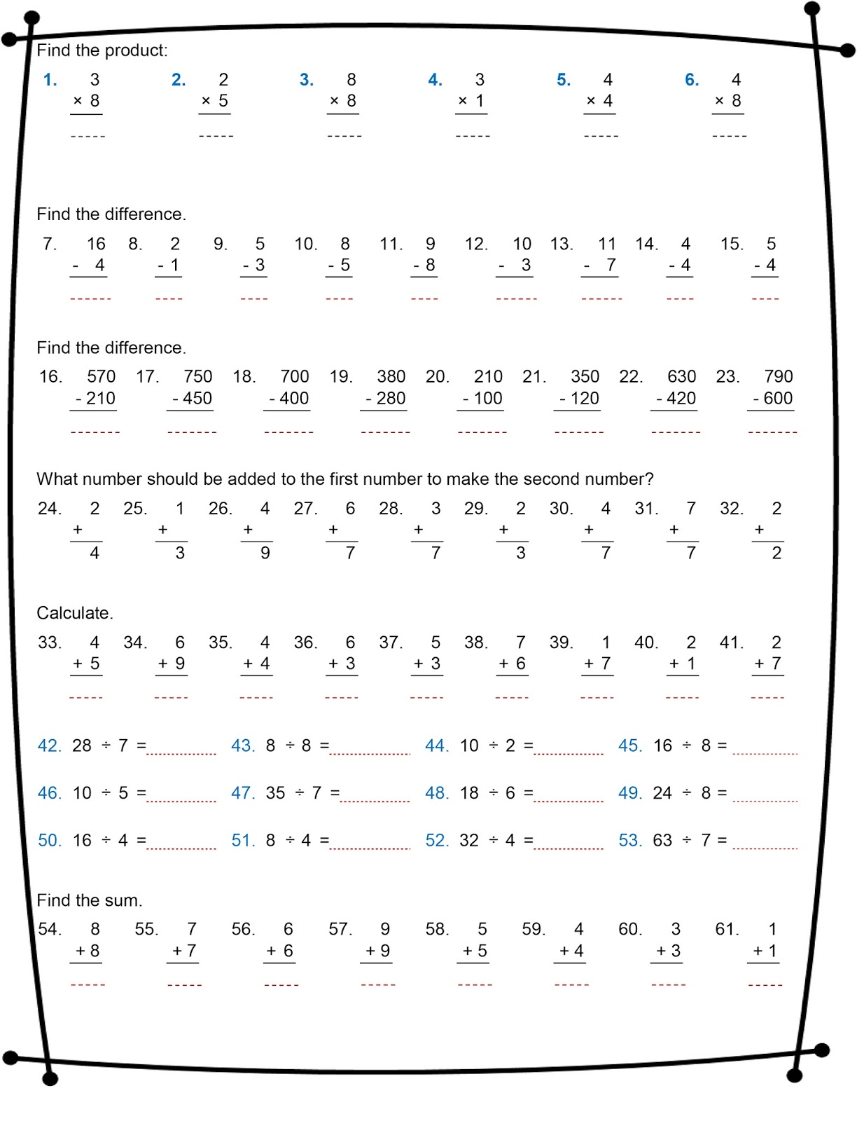 Math Multiplication Worksheets Grade 7   Printable Worksheets and  Activities for Teachers [ 1600 x 1224 Pixel ]