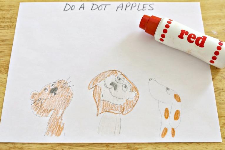 Ten Apples Up on Top activities-- Do A Dot Apples