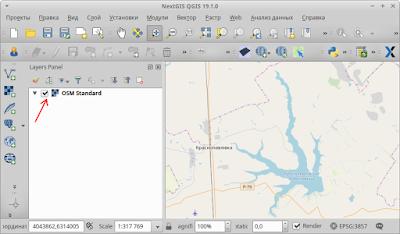 Добавить карту OSM (OpenStreetMap) в QGIS как отдельный слой