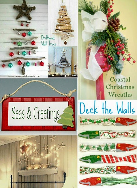 coastal Christmas wall decorations