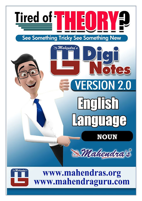 Digi Notes - 2.0  | Noun For IBPS PO Mains  | 19.10.2017
