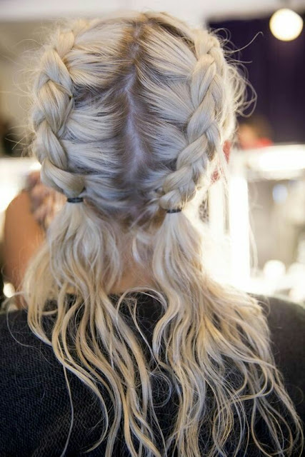 Double french hairstyle