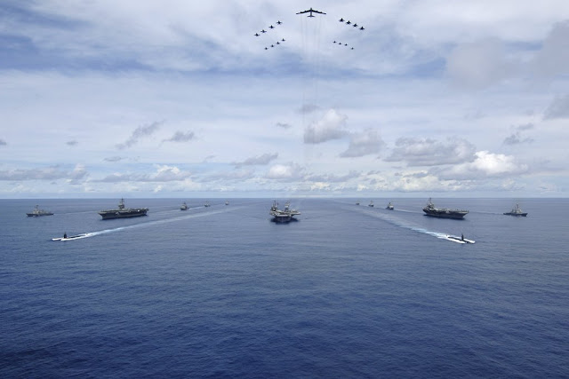 Three US Carriers together exercise
