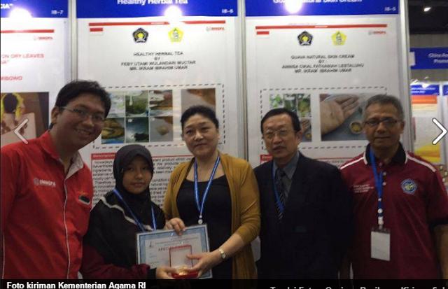 Inovasi 2 Siswi MTs Diganjar Bronze Medal di IPITEX Thailand