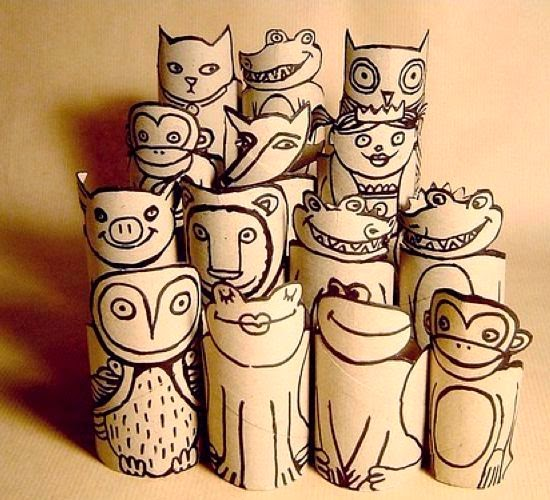 Here are some handicraft ideas from Used Goods, Various Toilet Paper Roll Creations
