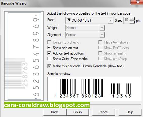 Cara Membuat Barcode Coreldraw