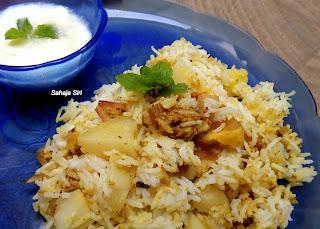 Aloo masala rice