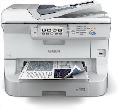 Multifunction amongst scalable newspaper trays Epson Workforce Pro WF-8510DWF Driver Downloads